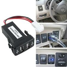 Auto Dual USB Port Charging Car Charger Auto Double Socket For TOYOTA VIGO New