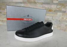 PRADA Gr 43,5  9  Sneakers Schnürschuhe Schuhe 4E3299 schwarz NEU ehem UVP 495 €