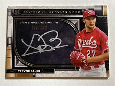 TREVOR BAUER reds 2021 Topps Museum Archival Autograph AUTO 138/200