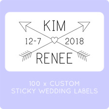100 PERSONALISE SAME SEX MARRIAGE WEDDING LABELS STICKERS LGBTQI STICKY GAY