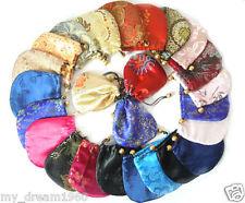 "Lots 10Pcs Multi-Color Silk Purse Gift Jewelry wedding Bags 4""x4"""
