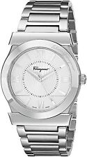Salvatore Ferragamo Men's FI0990014 Vega Stainless Steel Watch New Silver
