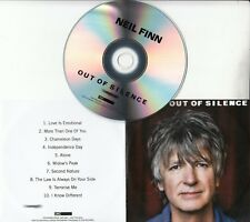 NEIL FINN Out Of Silence 2017 UK watermarked & numbered 10-track promo test CD