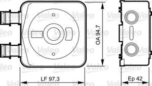 VALEO Ölkühler Motoröl Motorölkühler 818889