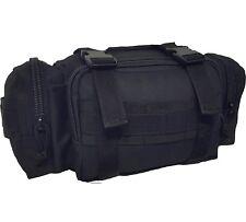 TAS SECURITY / DEPLOYMENT BUM BAG MOLLE BLACK - 900D DOUBLE PU COATING