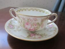 Bouillon cup and saucer by Haviland Limoges, Sch 488