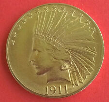 USA 10 Dollar Gold Indian Head Eagle 1911 - 1/2 Unze Gold - tolles Stück!