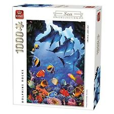King 5667 Dolphins Rocks Sea World Jigsaw Puzzle (1000-piece) - Collection 1000