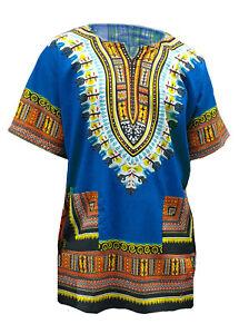 Blue African Unisex Dashiki Shirt DP3751 Small to 7XL Plus Size