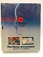 The Home Accountant - Continental Software Apple II II+ IIe Software 1983 NEW