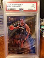 2019-20 Panini Select Courtside #297 Zion Williamson Pelicans RC Rookie PSA 9!