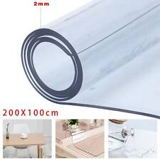2mm Thick Plastic Tablecloth Table Protector CLEAR PVC Table Cover 100*200cm