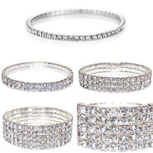 Swarovski Elements Crystal Tennis Silver Tone Bracelet Jewelry Christmas Gift