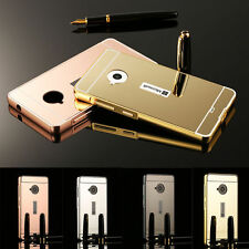 New Luxury Mirror Back Cover Aluminum Bumper Metal Case For Nokia Lumia Phones