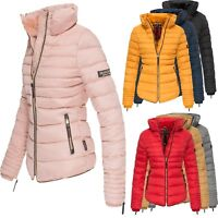 Marikoo Amber Steppjacke gefüttert Winterjacke 80003 Fashion Look Jacke Outdoor