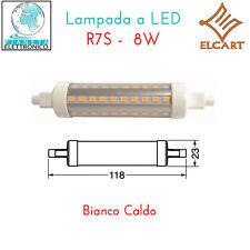 LAMPADA FARETTO LED R7S 8W REALI LUCE CALDA 360 GRADI 820LUMEN 2700K