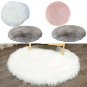 Seat Mat Waterproof Polyester Rug Shaggy Soft Artificial Plush Decoration