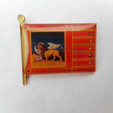 Venezia, Flag, LABEL PIN, BADGE, VENEZIA, VENETO, bandiera