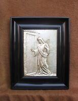 Superbe et rare cadre religieux laqué noir de style Napoléon III - Berger Jésus