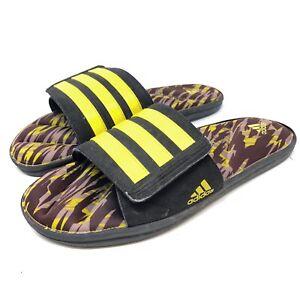 Adidas Super Star FitFoam Men's Sz 11 M Purple Yellow Stripe Slides Sandals