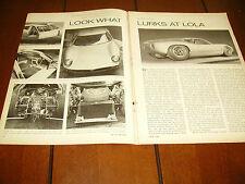 1963  LOLA GT SPORTS CAR   ***ORIGIAL ARTICLE***