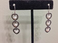 Honora Sterling Silver And Pearls Earrings