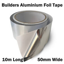 Aluminium Silver Foil Adhesive Builders Tape Air Conditioning 10m x 50mm 30um