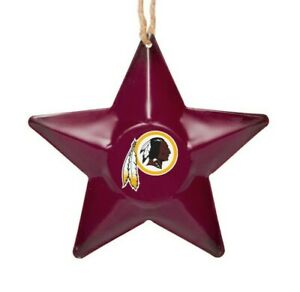 Washington Redskins Christmas Tree Holiday Ornament New Team Logo Metal 3D Star