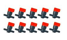 "(10) FUEL GAS SHUTOFF CUTOFF VALVES 1/4"" for Stens 120-212 Rotary 5841 Tractors"