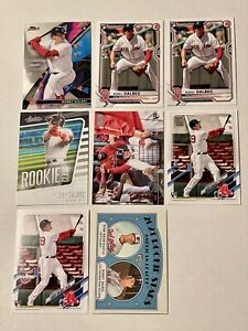Bobby Dalbec Rookie Lot of 8: Finest/Bowman/Stad Club/Absolute/Topps/Heritage