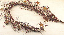 Pip Berry Garland with Rusty Stars - Country Mix