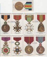 Belgium Post WWI Military War Decorations and Medals NINE 1920s Ad Trade Cards
