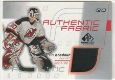 2001-02 SPGU SP Game Used Authentic Fabric Jersey MARTIN BRODEUR #AF-MB Devils