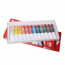 Pro 12 Color 12ml Tube Draw Painting Artists Acrylic Color Paints Set