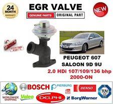 FOR PEUGEOT 607 SALOON 9D 9U 2.0 HDi 107/109/136 bhp 2000-ON Pneumatic EGR VALVE