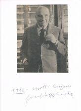 "Pier Giuseppe Beretta 1906-93 genuine autograph signed 6x8"" card pistol gunmaker"