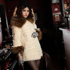Womens Imitation fur coat Rabbit fur collar fashion Warm coat clearance price