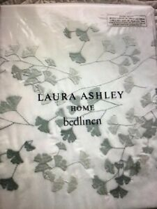 LAURA ASHLEY LORNA Embroidered Double Bedding Set In Duck Egg BNWT