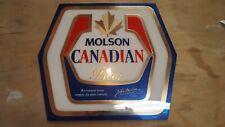 VINTAGE MOLSON CANADIAN BEER  HEAVY CARDBOARD SIGN