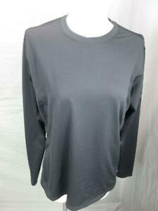 REI Size L Womens Black Athletic Stretch Long Sleeve Outdoor Jersey Top T136
