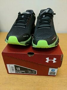 Under Armour HOVR Infinite Mens Size 9 Black/ Green New In Box Ref Shelf