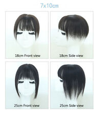 Straight Women Hairpiece Clip in 100% Human Hair Flat Bang Topper Hairpiece