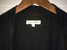 jovovich-hawk Black Cotton Blend Short Sleeve Tie Neck Knee Length Dress 8
