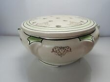 Roseville Pottery USA Vintage Art Medallion Creamware Fern Large Dish & Frog!