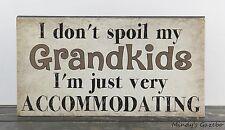 GRANDKIDS GRANDPARENT GRANDMA WOOD BLOCK SIGN HANDMADE HOME DECOR 1461