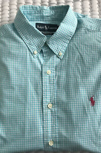 Ralph Lauren Polo Checked Shirt Large Classic Fit