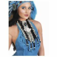 Native American Indian Turquoise Beaded Chest Plate Festival Costume Accessory
