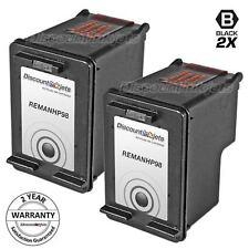 2 98 C9364WN Black Printer Ink Cartridge for HP HP98 OfficeJet H470wbt 100 150