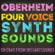 OBERHEIM Four Voice SYNTH SOUND Reason NNXT Exs 24 Kontakt Akai Soundfont Wav DL