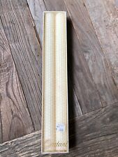 "Set Of 2 12"" Ivory Beeswax Candles"
